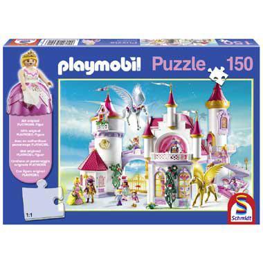 Schmidt playmobil kinderpuzzel het Kasteel van de Prinses 150 st