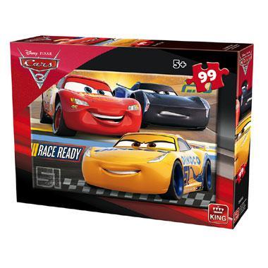 King Disney cars 3 kinderpuzzel Race Ready 3 stukjes vanaf 3 jaa