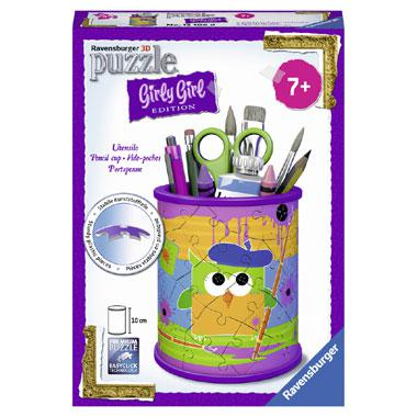 Ravensburger Girly Girl 3D kinderpuzzel funky owls pennenbak 54