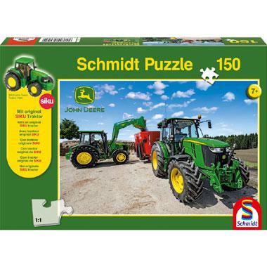 Schmidt 5M series kinderpuzzel Tractors 150 stukjes vanaf 7 jaar