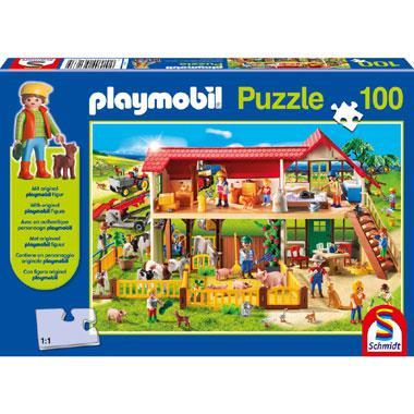 Schmidt Playmobil puzzel de Boerderij 100 stukjes