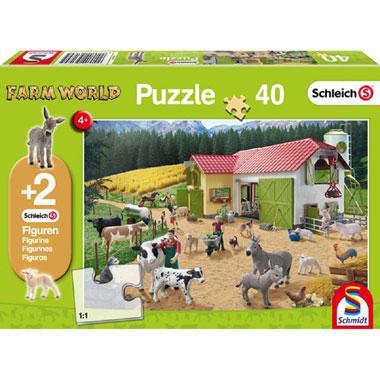 Schmidt puzzel Een dag op de boerderij 40 stukjes vanaf 4 jaar