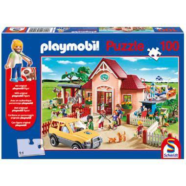 Schmidt Playmobil puzzel Dierenartsenpraktijk 100 stukjes