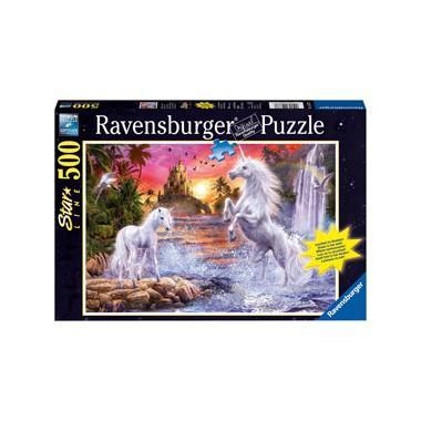 Ravensburger starline legpuzzel Eenhoorns bij de Rivier 500 stuk