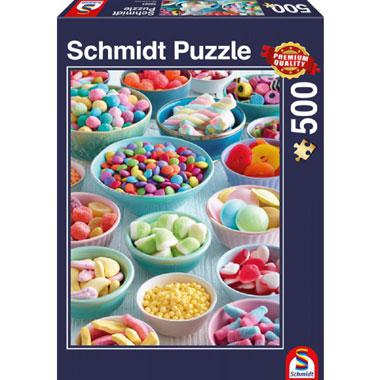 Schmidt puzzel Zoete Lekkernijen 500 stukjes