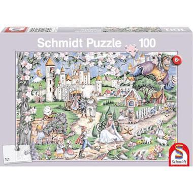 Schmidt kinderpuzzel Fairytale World 100 stukjes vanaf 6 jaar