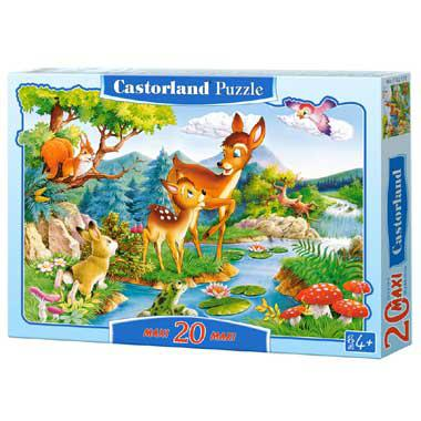 Selecta Castorland kinderpuzzel Little Deers 20 stukjes vanaf 4