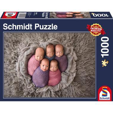 Schmidt legpuzzel Vijf op een Rij 1000 stukjes