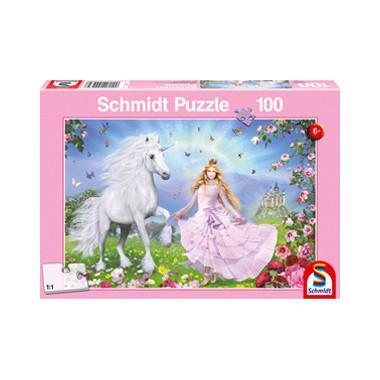Schmidt kinderpuzzel Prinses van de Eenhoorns 100 stukjes vanaf