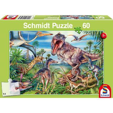 Schmidt kinderpuzzel At the Dinosaurus 60 stukjes vanaf 5 jaar