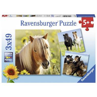 Ravensburger kinderpuzzel Schattige Ponys 49 stukjes vanaf 5 jaa