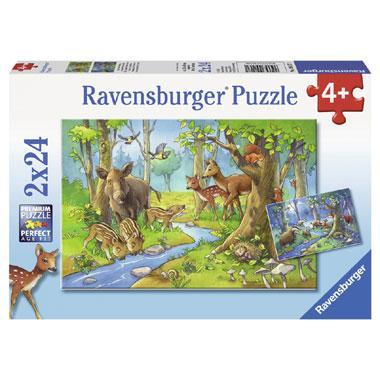 Ravensburger kinderpuzzel Dieren uit het Bos 24 stukjes vanaf 4