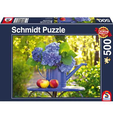 Schmidt legpuzzel Gieter met Hortensia 500 stukjes