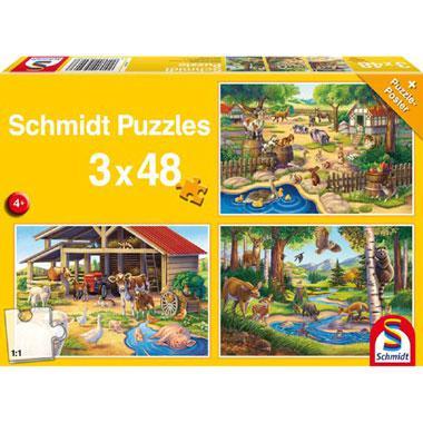 Schmidt kinderpuzzel Al mijn lievelings dieren 48 stukjes vanaf