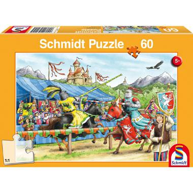Schmidt kinderpuzzel Bij de Ridders 60 stukjes vanaf 5 jaar
