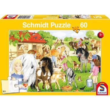 Schmidt kinderpuzzel Lol op het Ponyerf 60 stukjes vanaf 5 jaar