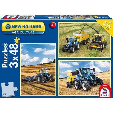Schmidt kinderpuzzel New Holland boeren bedrijf 48 stukjes vanaf