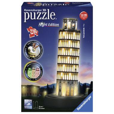 Ravensburger 3D puzzel toren van pisa bij nacht 216 stukjes