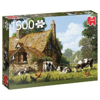 Jumbo legpuzzel Koeien bij de Boerderij 1500 stukjes