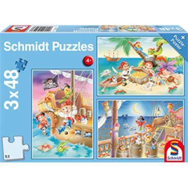 Schmidt kinderpuzzel Piratenbende 48 stukjes vanaf 4 jaar