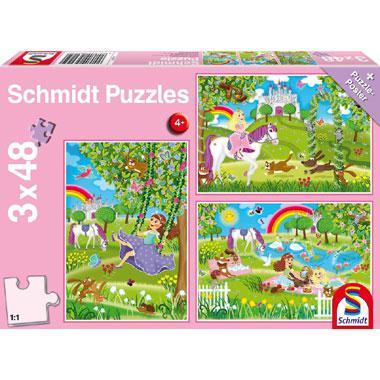 Schmidt kinderpuzzel Prinses in de Slottuin 48 stukjes vanaf 4 j