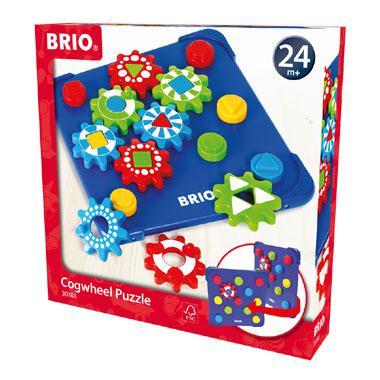 Brio tandwiel puzzel 12 stukjes voor peuters