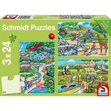 Schmidt kinderpuzzel Een dagje Dierentuin 24 stukjes vanaf 3 jaa