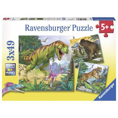 Ravensburger kinderpuzzel Heersers van de Oertijd 49 stukjes van