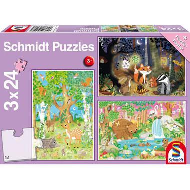 Schmidt kinderpuzzel Bosdieren 24 stukjes vanaf 3 jaar