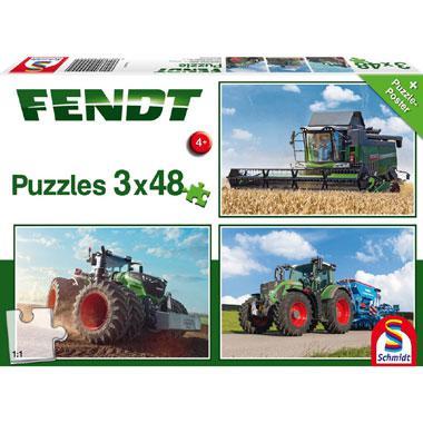 Schmidt kinderpuzzel Tractors 48 stukjes vanaf 4 jaar