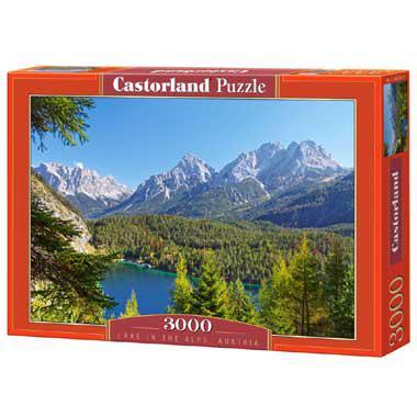 Selecta Castorland legpuzzel Lake in de Alpen Oostenrijk 3000 st