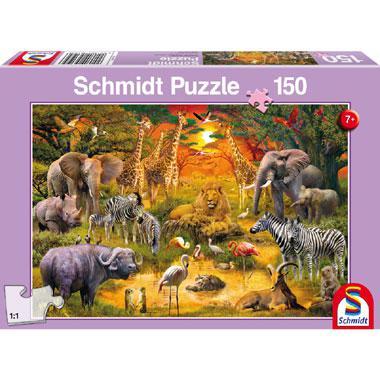 Schmidt kinderpuzzel Animals in Africa 150 stukjes vanaf 7 jaar
