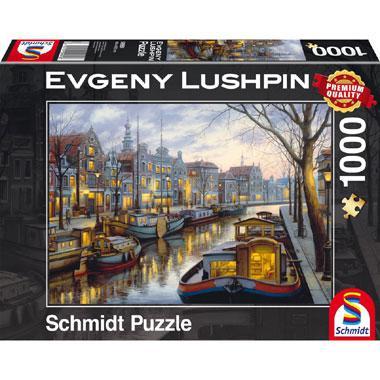 Schmidt legpuzzel Evgeny Lushphin Aan het kanaal 1000 stukjes
