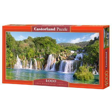 Castorland legpuzzel krka Watervallen in Kroatie 4000 stukjes