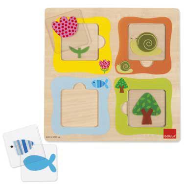Jumbo houten kinderpuzzel Transparant 10 stukjes vanaf 2 jaar