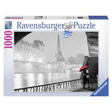 Ravensburger legpuzzel Parijs Romantisch in de Regen 1000 stukje