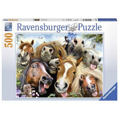 Ravensburger puzzel Paarden Selfie 500 stukjes