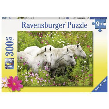 Ravensburger XXL kinderpuzzel Paarden tussen de Bloemen 300 stuk
