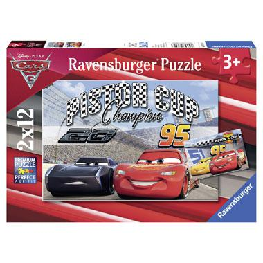 Ravensburger Disney cars 3 kinderpuzzel Piston Cup 12 stukjes va