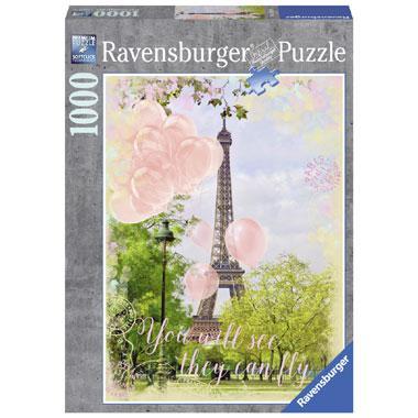 Ravensburger legpuzzel Ballonnen bij de Eiffeltoren 1000 stukjes