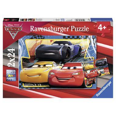 Ravensburger Disney cars 3 kinderpuzzel Bliksem Cruz Jackson 24