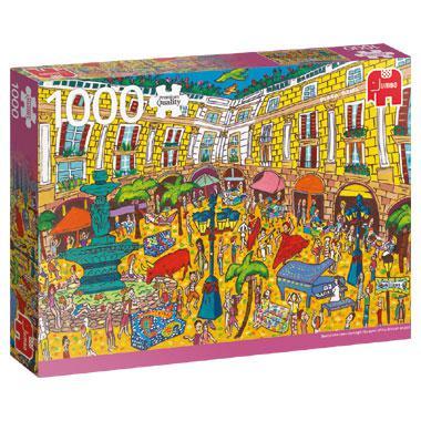 Jumbo legpuzzel Sightseeing Placa Reial Barcelona 1000 stukjes