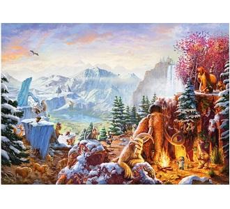 Schmidt legpuzzel Thomas Kinkade Ice age 1000 stukjes