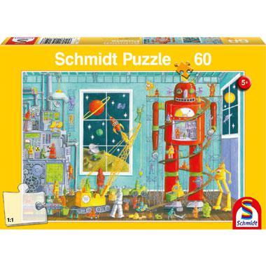 Schmidt kinderpuzzel Robots 60 stukjes vanaf 5 jaar