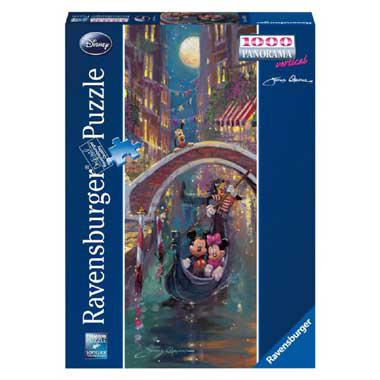 Ravensburger Disney Panorama legpuzzel Mickey & Minnie in veneti