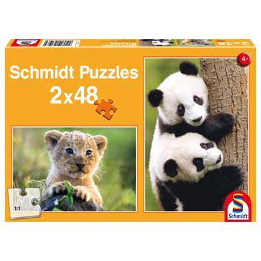 Schmidt kinderpuzzel Cute Animal Babies 48 stukjes vanaf 4 jaar