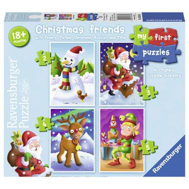 Ravensburger mijn eerste puzzel kinderpuzzel Christmas Friends 4