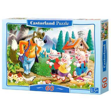 Selecta Castorland kinderpuzzel Three Little Pigs 60 stukjes van