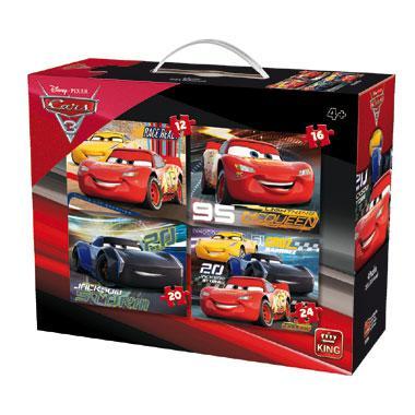 King Disney kinderpuzzel cars 3 24 stukjes vanaf 4 jaar