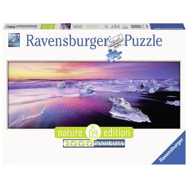 Ravensburger panorama puzzel Jokulsarlon IJsland 1000 stukjes